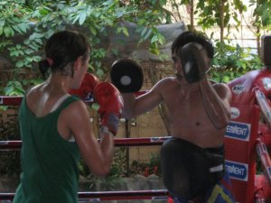 Training at Eminent Air Boxing Gym