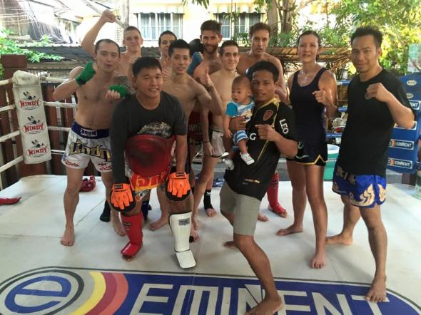 Photo taken during the last training session of 2014 at Eminent Air Boxing Gym